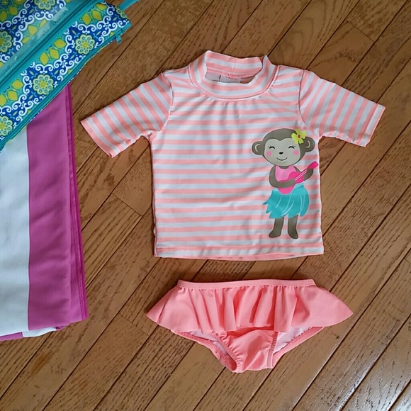 73b467400 Carter's Swim | Baby Girls Rash Guard Suit | Poshmark